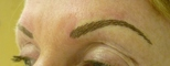 immediately after hair stroke brows - this will soften up to 40% after 7 days