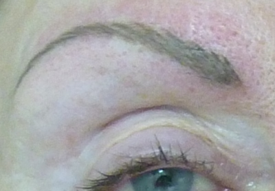 Permanent Makeup- after hairline stroke brow